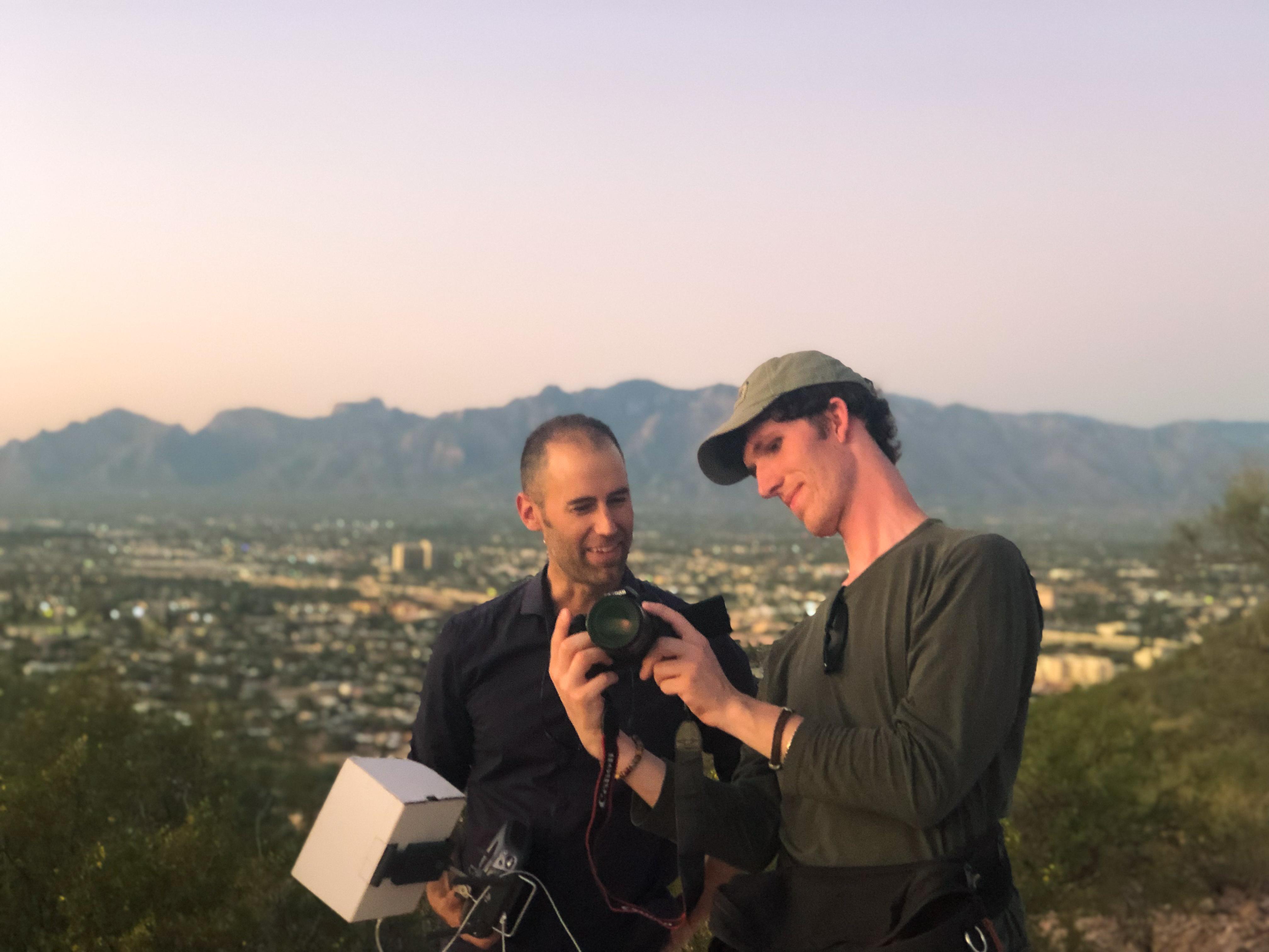 Landmark Stories producers analyze shots