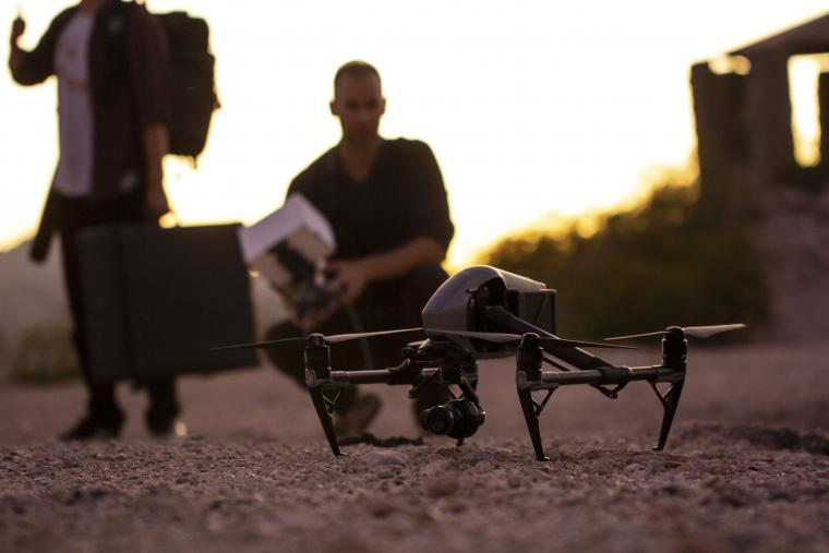 Drone sitting on ground