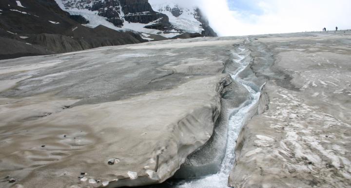River Melt Water Athabasca Glacier